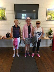 Några av de generösa deltagarna på Hjärtgolfen: Christina Mitchell, Ann-Christin Lindbäck och Gun Salo.