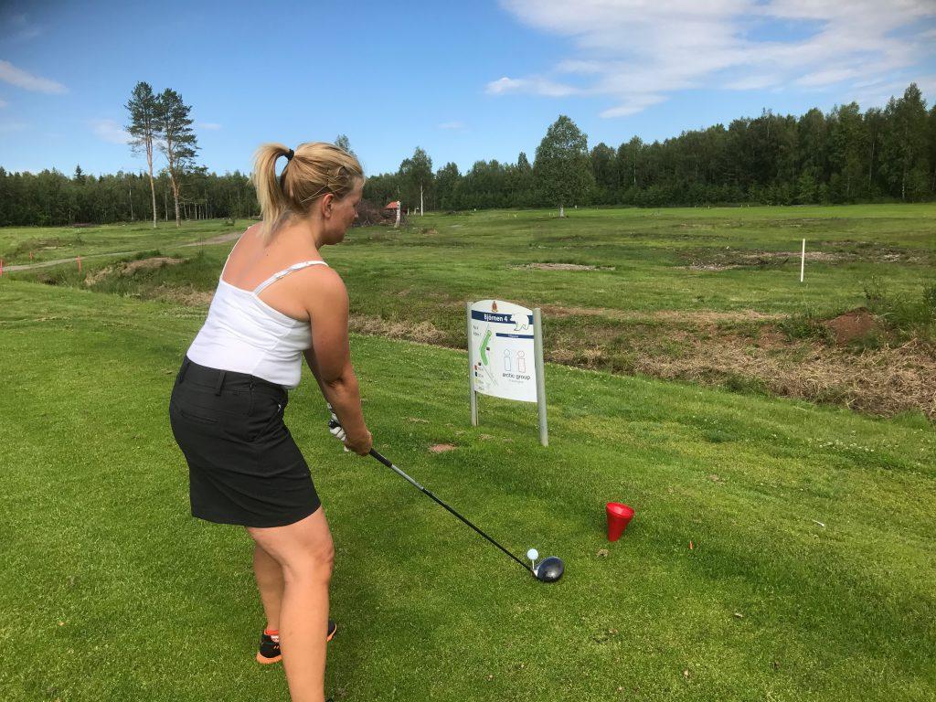 Helena Eriksson var en av de första som slog ut med de nya outmarkeringarna som börjar på Björnen 4.